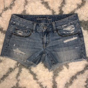 Embellished Jean Shorts American Eagle